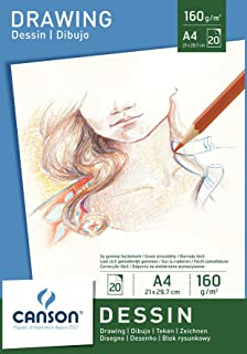 Canson Bloc 200005779 Papier à dessin Blanc pur