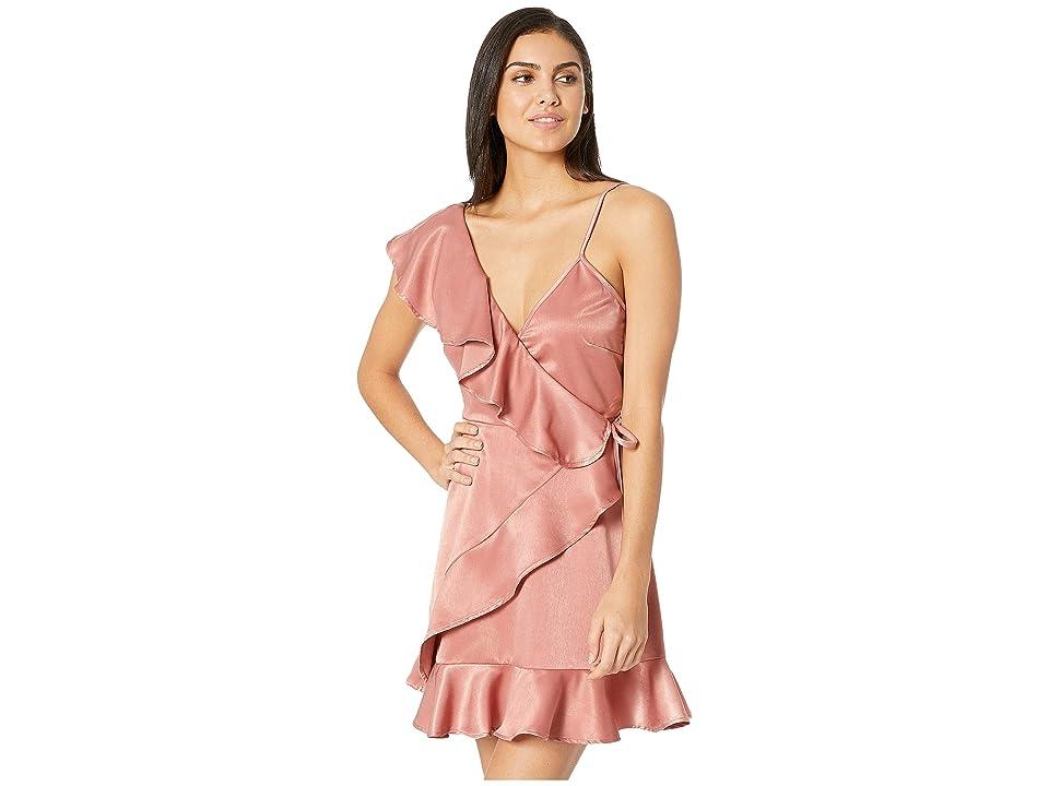 Jack by BB Dakota Limelight Charmeuse Ruffle Dress (Blush Pink) Women