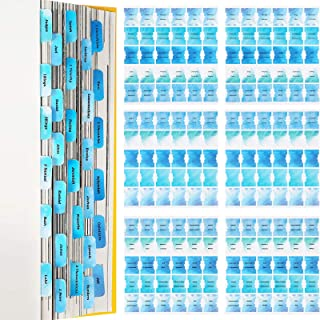 450 Pieces Bible Tabs Colorful Blue Series Sticky Index Tab, Bible Tabs Old and New Testament, Bible Tabs for Journaling N...
