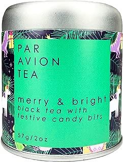 Par Avion Tea, Merry & Bright - Small Batch Loose Leaf Black Tea With Festive Candy Bits - 2 oz