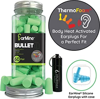 Ear Plugs for Sleeping Block Out Snoring, Premium Thermo Foam Noise Reduction and..