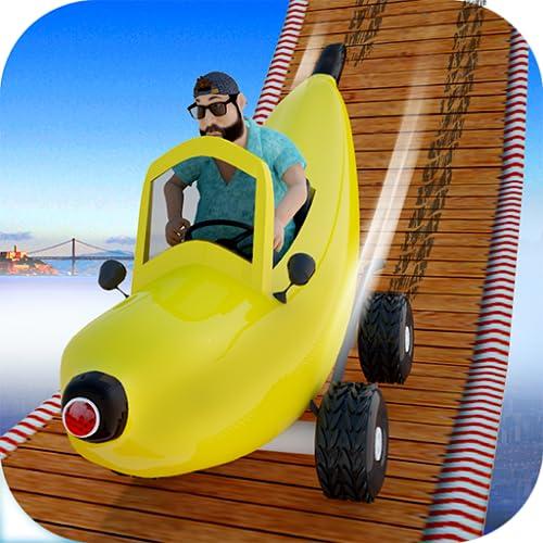 面白いバナナカーレース:子供のためのスタント極端な車のトップフリーゲーム