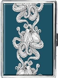Kraken Octopus Design Stainless Steel ID Cigarettes Case Holder Stylish Credit Card Wallet
