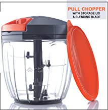 Artikel Manual Chopper & Blender with Storage Lid | Chops Vegetables, Nuts & Fruits | Blends Flour | Egg Beater | Meat Mincer | Large - 900 ml