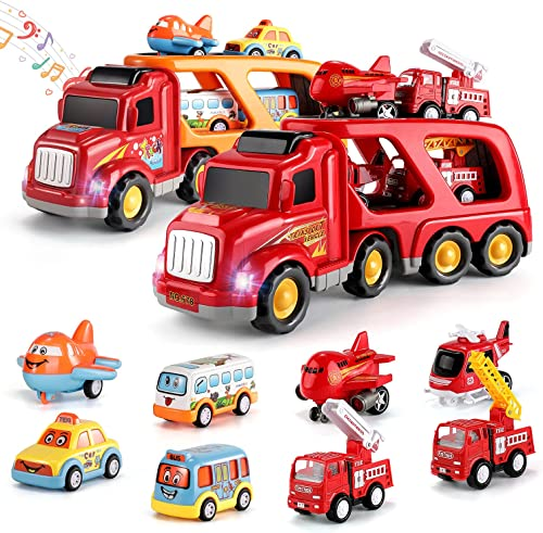 2021 TEMI Carrier Truck Transport Car Play Vehicles Toys and TEMI outlet sale Fire Carrier Truck online Transport Car Play Vehicles outlet sale
