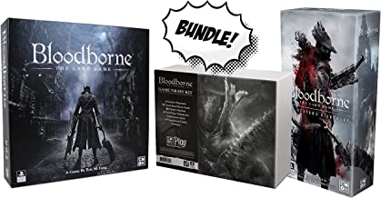 Bloodborne The Card Game + Bloodborne: The Hunter`s Nightmare Expansion Also Includes Bloodborne Game Night Kit! Board Game Bundle!