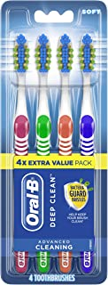 Oral-B 40 Soft Bristles Complete Deep Clean Toothbrush, 4 Count