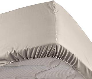 douceur d'intérieur Drap housse 2 Personnes 140 x 190 cm Percale uni Percaline lin