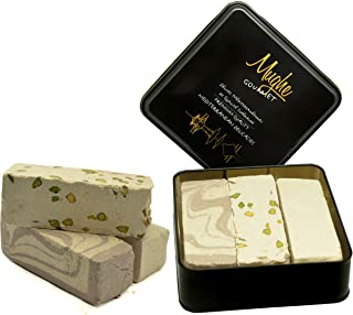 Halvah Assorted (30 Oz) - Tahini Halva 3 Varieties: Pistachio, Marble Chocolate & Plain - Flaky Turkish Halawa Tahini (Halvah Assorted, 30 Oz)