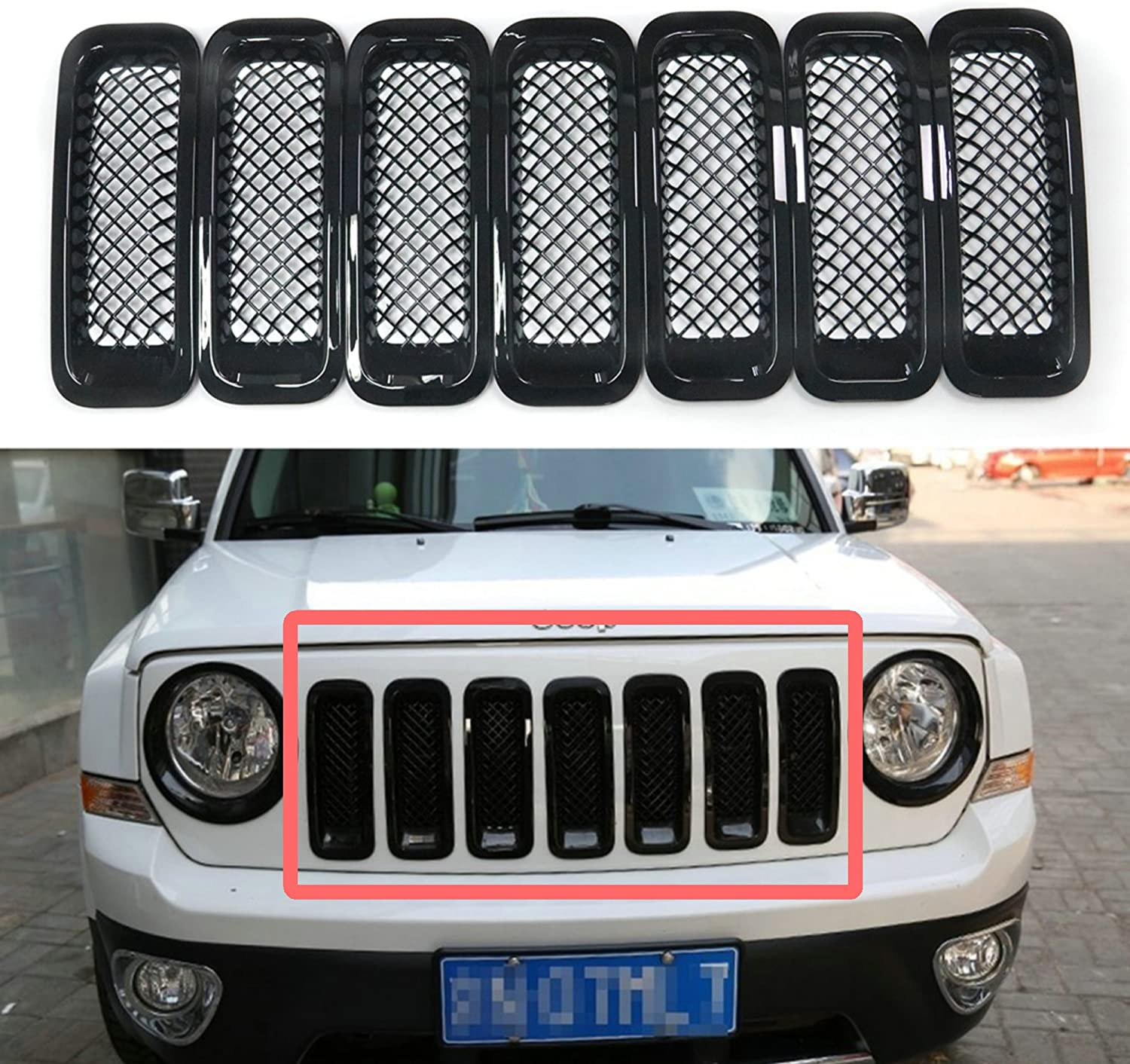 Ranking TOP19 Bestong 7 Pcs Latest item Front Grill Insert Cover Grille Kit Compatibl Trim