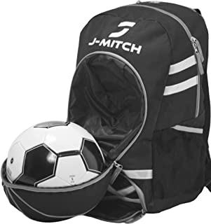 J-Mitch Soccer Backpack with Ball Holder - Suitable for Kids & Adults