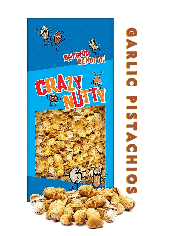 Crazy Nutty's Californian Garlic Pistachios Farm Bag 1 - Max 42% OFF Pound Factory outlet