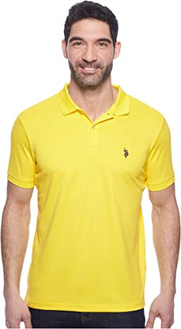 Classic Fit Interlock Solid Polo Shirt