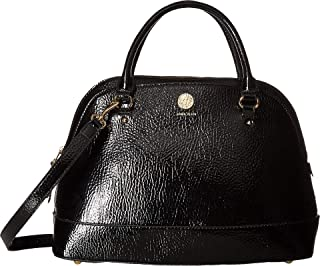 Anne Klein Women's Patent Signature Triple Dome Satchel