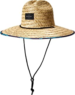 Rip Curl Men's Paradise Straw Lifeguard Sun Hat, Pool Side, 1SZ
