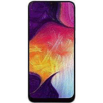 "Samsung Galaxy A50 (64GB, 4GB RAM) 6.4"" Display, 25MP, Triple Camera, Global 4G LTE Dual SIM GSM Factory Unlocked A505G/DS (International Model w/ 64GB MicroSD Bundle) (White)"