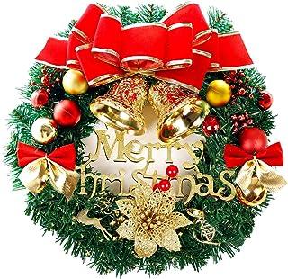 Geagodelia Ghirlanda Natalizia Piccola Ghirlanda in Rattan Porta dingresso Finestra di Natale Addobbi Natalizi Decorazioni Natalizie per Albero Ornamenti per Interna ed Esterna Caramella
