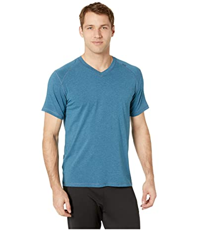 tasc Performance Carrollton V-Neck Tee (Sapphire Heather) Men