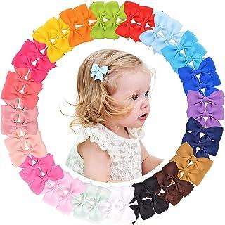 40 قطعة من مشابك شعر للبنات الرضع، 20 قطعة، مشابك شعر مضلَّعة، إكسسوارات شعر لحديثي الولادة والأطفال مجموعة من أزواج