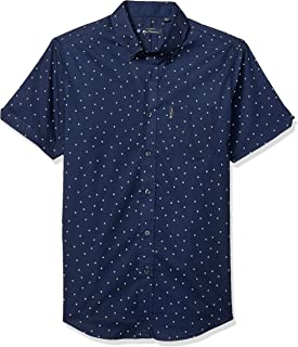 Men's Ss Mini Box Print Shirt