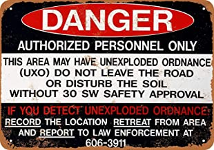 Weytff 8 x 12 Metal Sign - Danger Unexploded Ordinance Pub Home Decor Metal Tin Sign