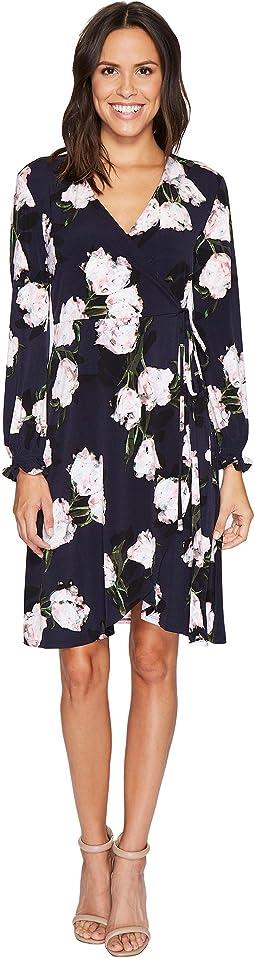 Ellen Tracy - Full Sleeve Wrap Dress