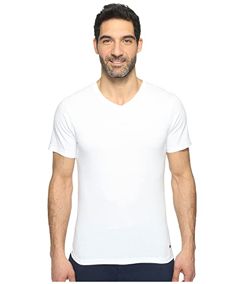 Blanco 3 Tommy Slim Cotton Pack Hilfiger Classics V Neck FnHTZ8qw