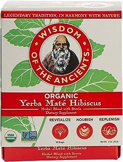Wisdom of the Ancients Organic Yerba Maté Tea Bags, Hibiscus, 1.1 oz