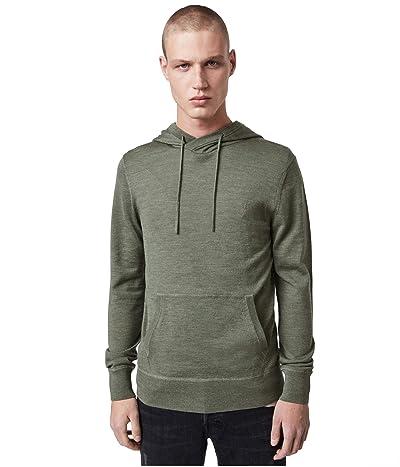 AllSaints Mode Merino Hoodie (Olive Green Marl) Men