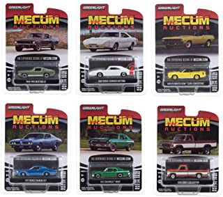 Greenlight Mecum Auctions Collector Cars Set of 6 Pieces Series 5 1/64 Diecast Model Cars 37210