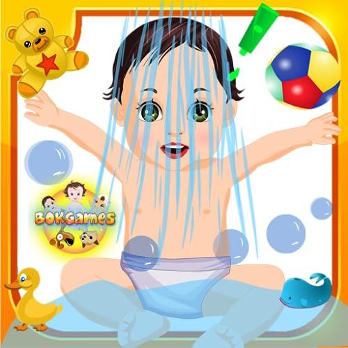 Kids Game: Garden Baby Bathing