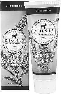 Dionis Goat Milk Skincare Hand Cream (Unscented, 2 oz)