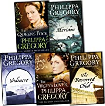 Philippa Gregory 5 Books Collection Set RRP 39.95 (The Favoured Child, The Queens Fool, Wideacre, Meridon, The Virgins Lover)