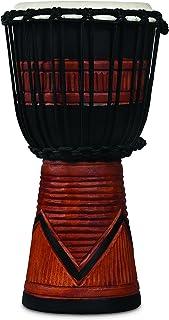 Latin Percussion LP713SB World Beat Wood Art Small Djembe ، سیاه و سفید / قهوه ای ، اینچ (