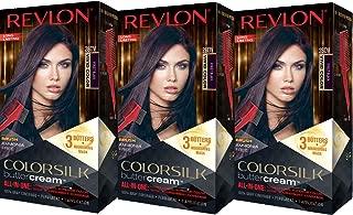 Revlon Colorsilk Buttercream Hair Dye, Vivid Violet Black, Pack of 3