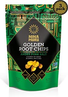 Golden Root Arracacha Chips (3-Pack) - Nina Muru 3.5oz - Certified Non-GMO, Gluten-Free, Vegan   Sourced sustainably in Peru   Used Globally by Top Chefs!