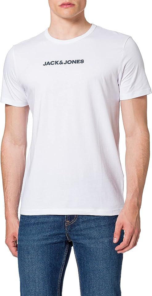 Herren JACRAIN Tee 3 Pack T-Shirt, Black/Detail:White-LGM, M (3er Pack)