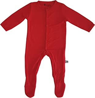 KYTE BABY Soft Organic Bamboo Rayon Footies, Snap Closure, 0-24 Months, Solid Colors