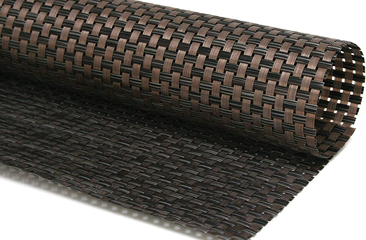 Front of the House XPM055COV83 Metroweave Large Basketweave Mat, 11  Width, 14  Length, Vinyl, Copper (Pack of 12)