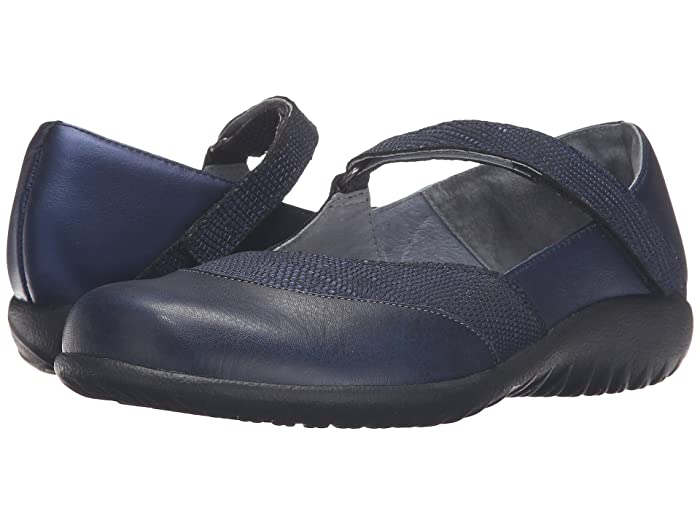 Naot  Luga (Navy Reptile Leather/Polar Sea Leather/) Womens Shoes