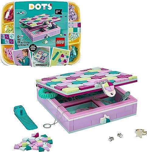 LEGO Dots 41915 La Boîte à Bijoux, Loisirs Créatifs et Bricolage, Décoration Personnalisable pour Chambre et Bureau p...