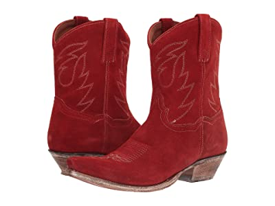 Dan Post Standing Room Only (Red Suede) Cowboy Boots