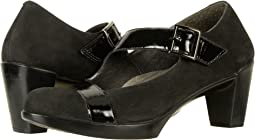 Black Velvet Nubuck/Black Luster Leather