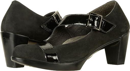 Black Velvet Nubuck/Black Luster Leather