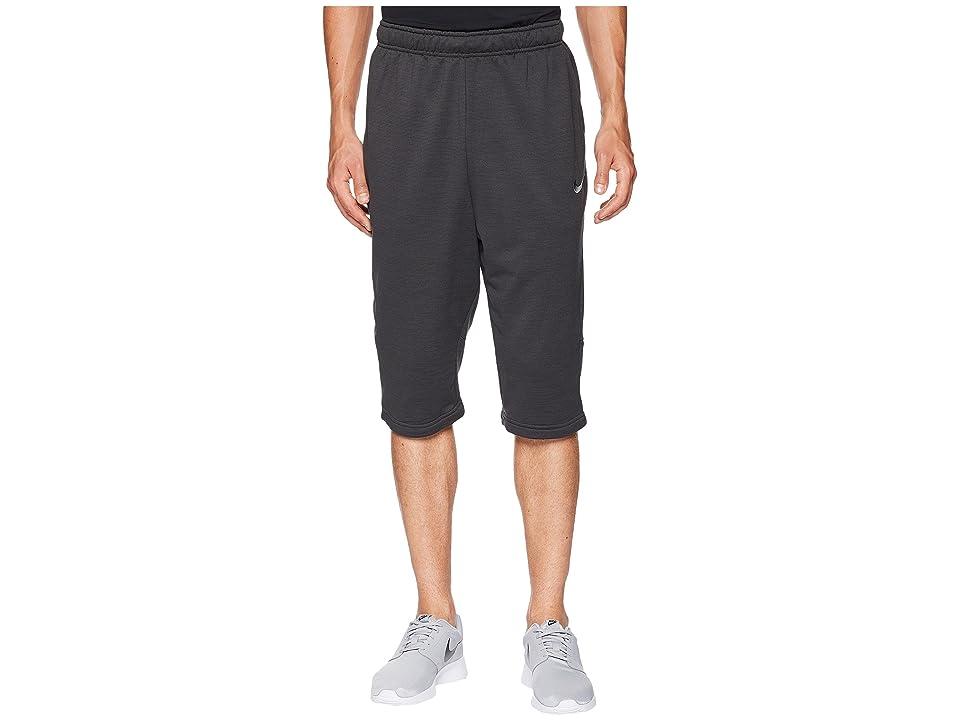 Nike Dry Fleece Long Training Short (Black Heather/Black/Anthracite/Black) Men