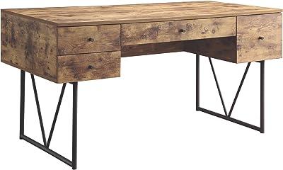 Benzara BM159114 Office Desk Brown
