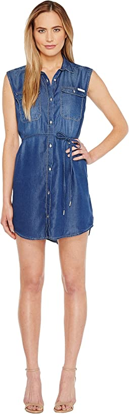 Sleeveless Denim Utility Dress