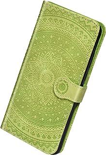 Herbests Kompatibel med Samsung Galaxy A8 Plus 2018 läderfodral skyddande fodral vintage solros mönster flip plånbok väska...