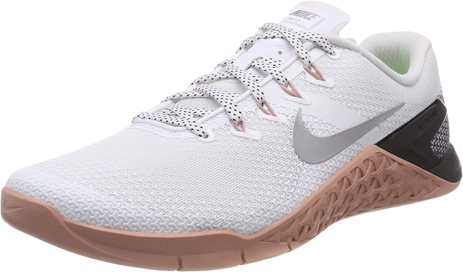 Nike Oakland Mall Women's New product! New type Metcon 4 White Silver Ankle-High Metallic Cross Tra