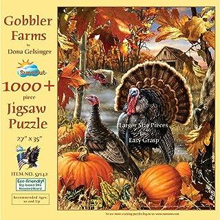 SUNSOUT INC Gobbler Farms 1000 Piece Jigsaw Puzzle (Large Pieces)